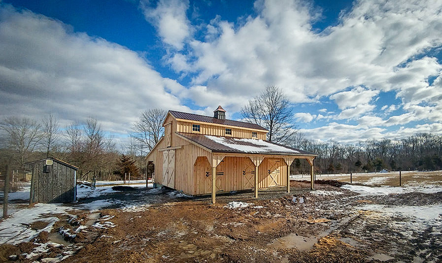 two story wooden horse barn for sale in va