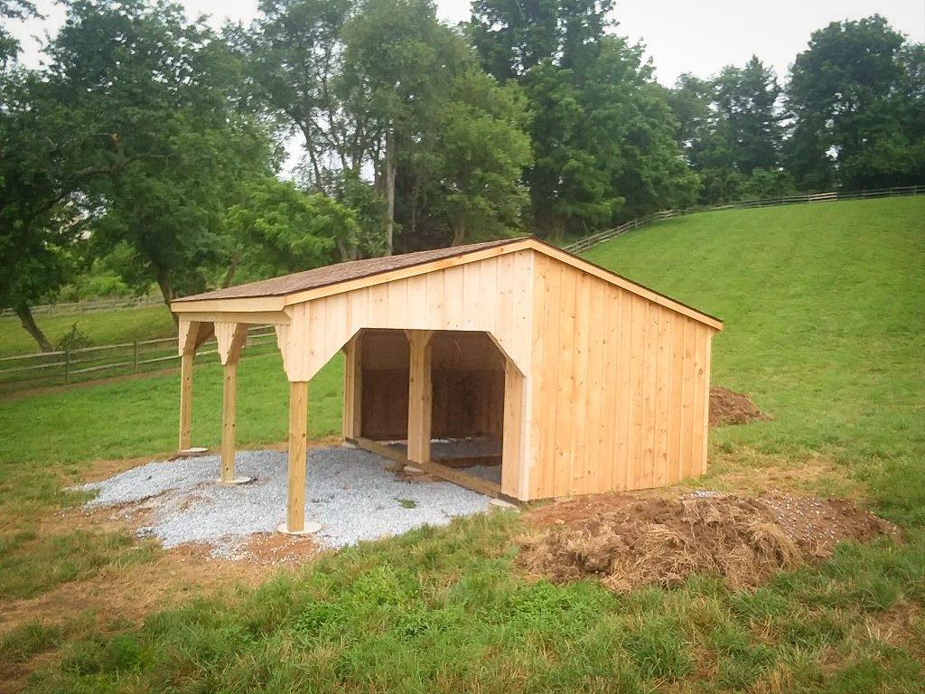 wooden prefab run-in sheds