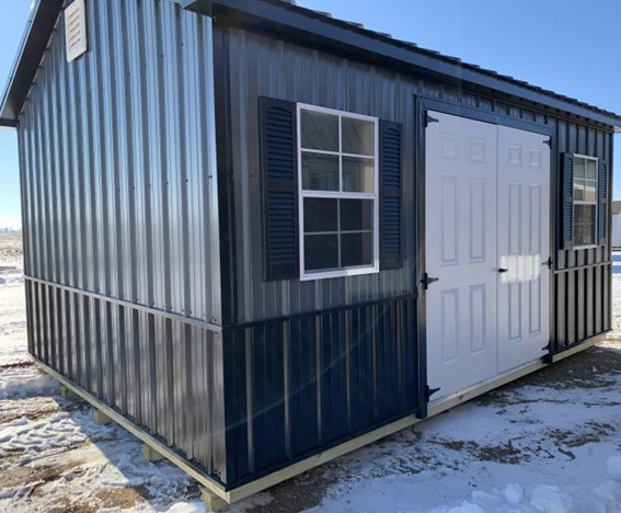 wood framed metal garage