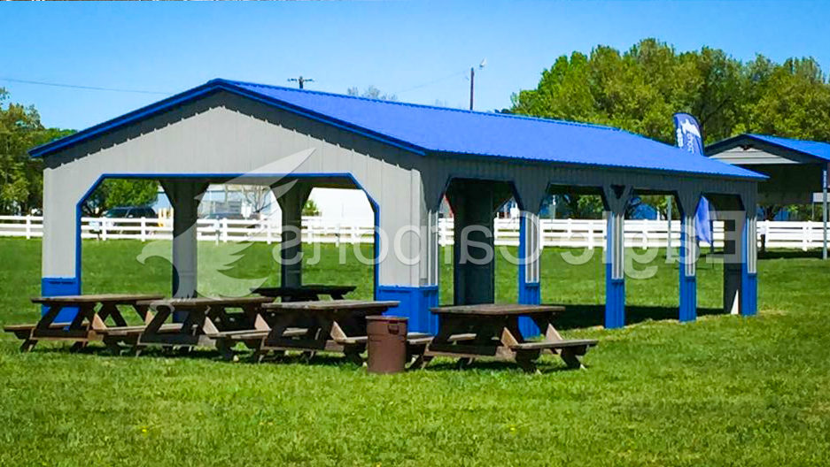 blue metal carports for sale