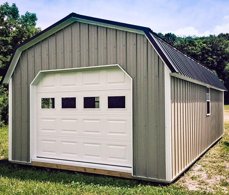 single car prefab garages