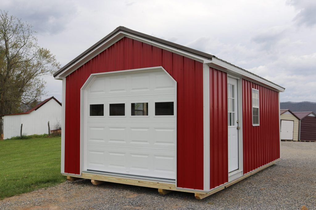 single car metal structure garage