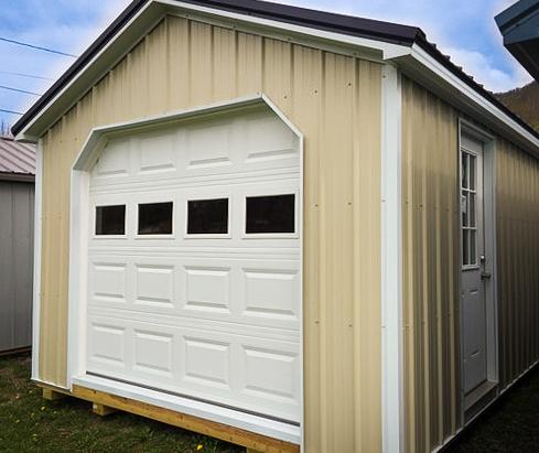 metal single car prefab garage