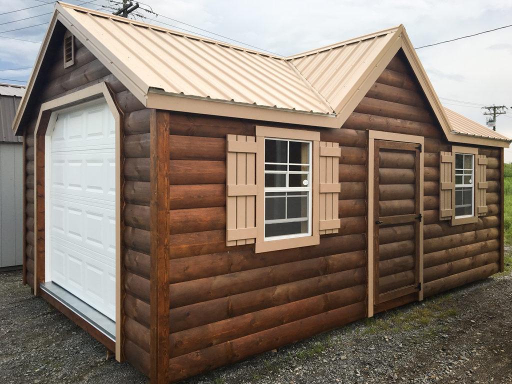 single car prefab garage cabin