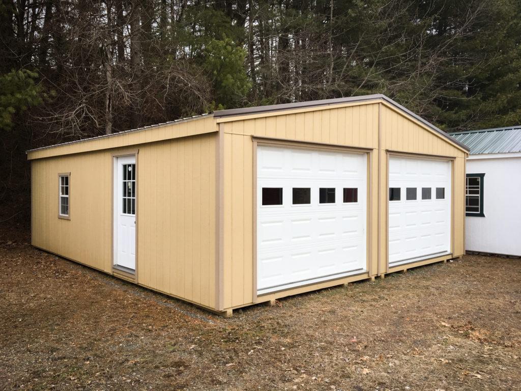 buy double prefab garages in virginia