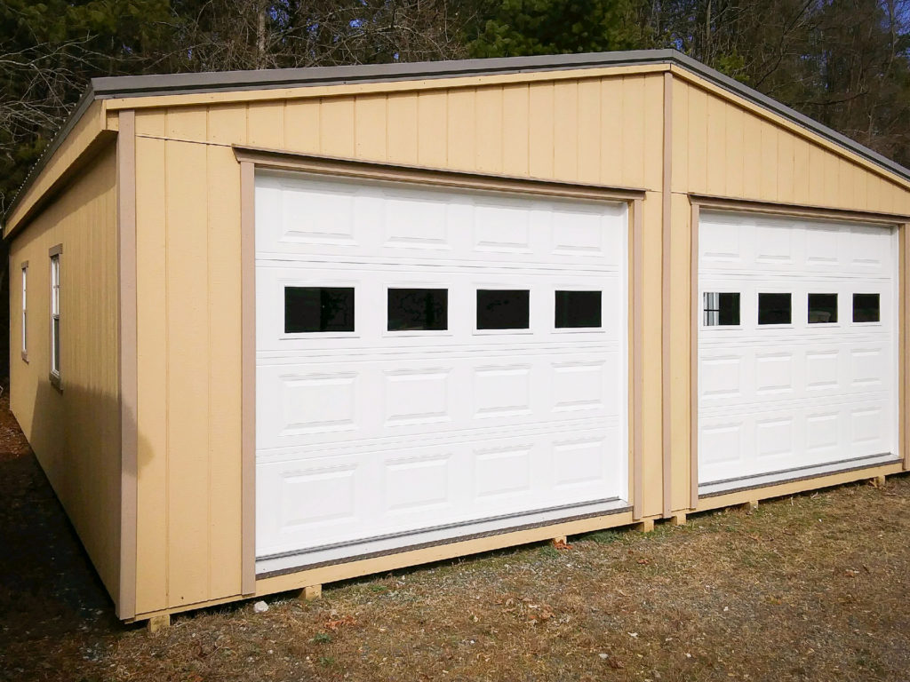 Double Wide Two Car Prefab Garages In Va And Nc Pine