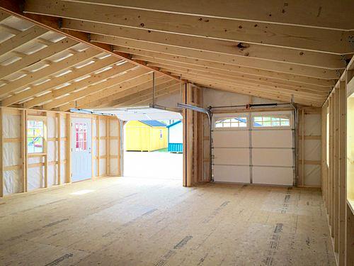 double prefab garages interior
