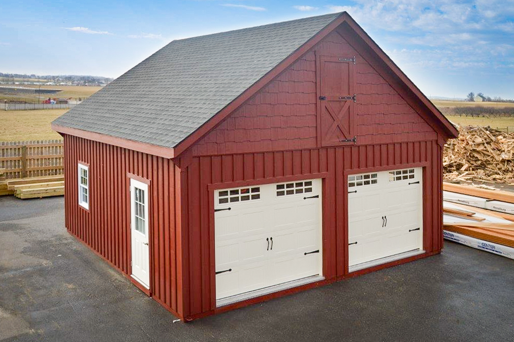 lofted prefab garage in va