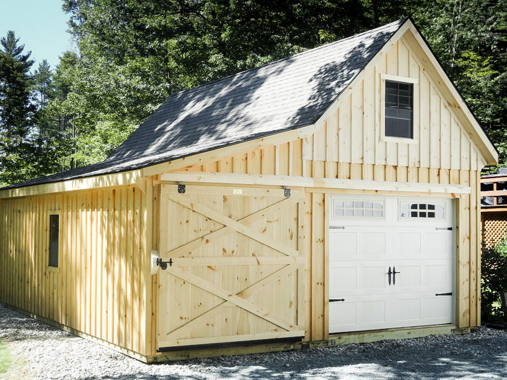 wooden prefab garage