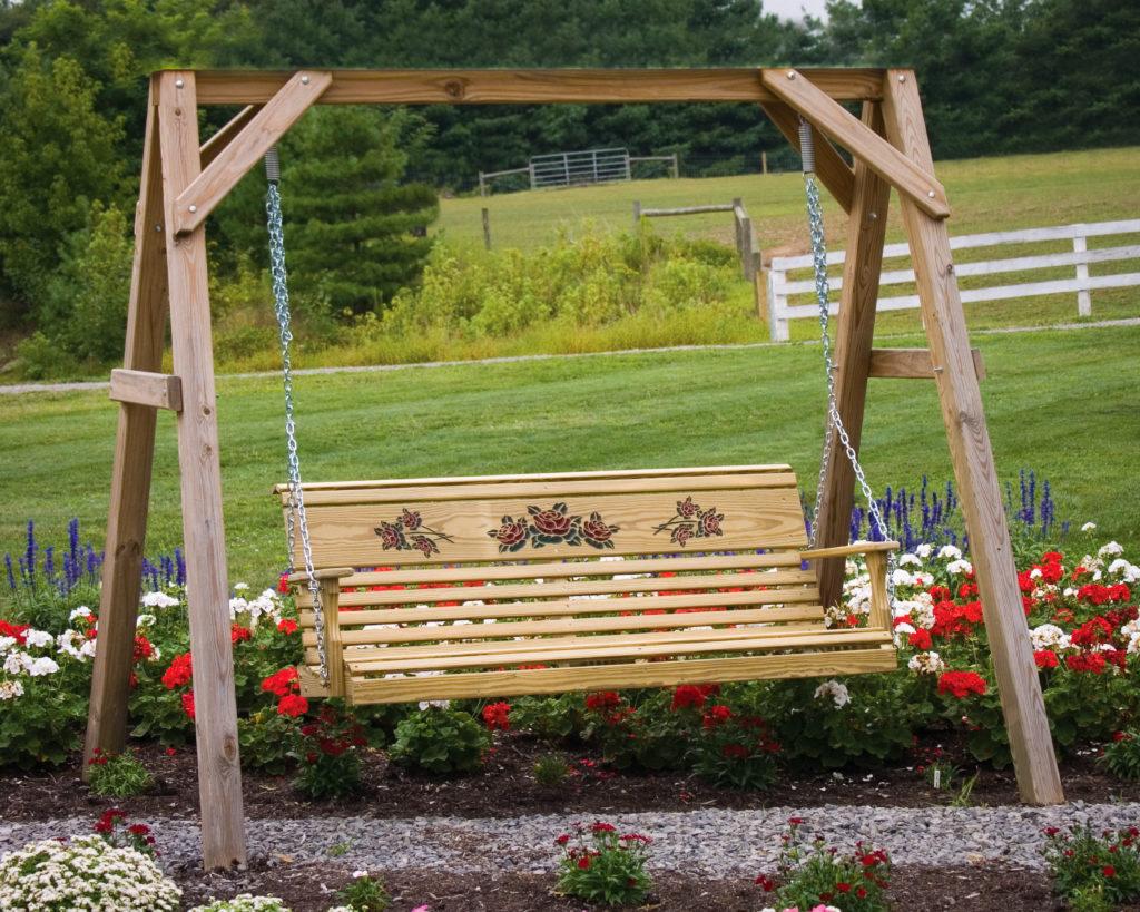 outdoor furniture swing set