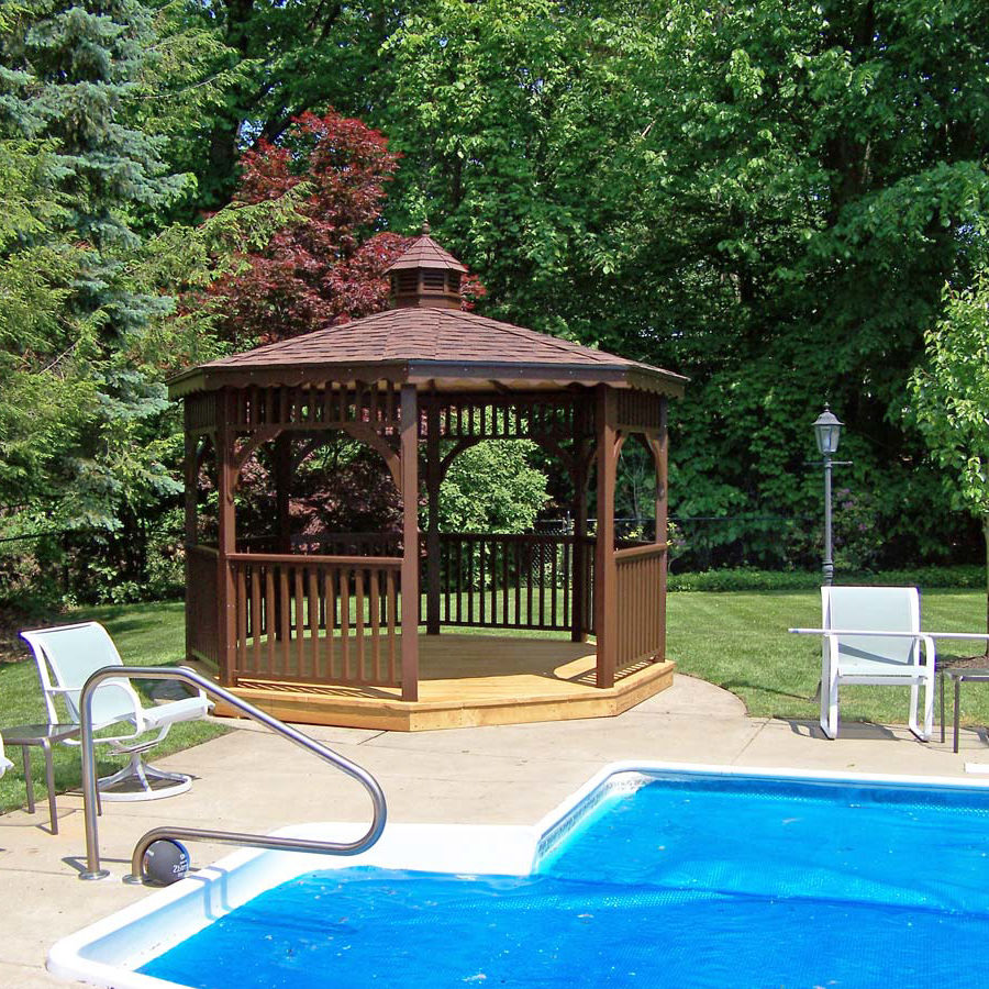 wooden gazebos for the pool