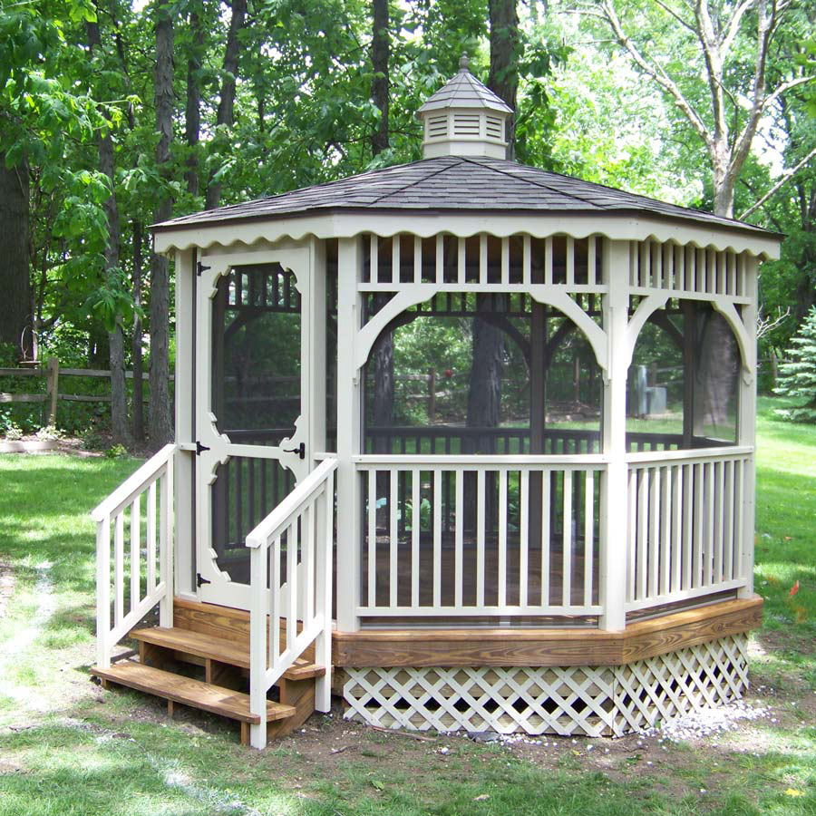 custom gazebo in the backyard in va