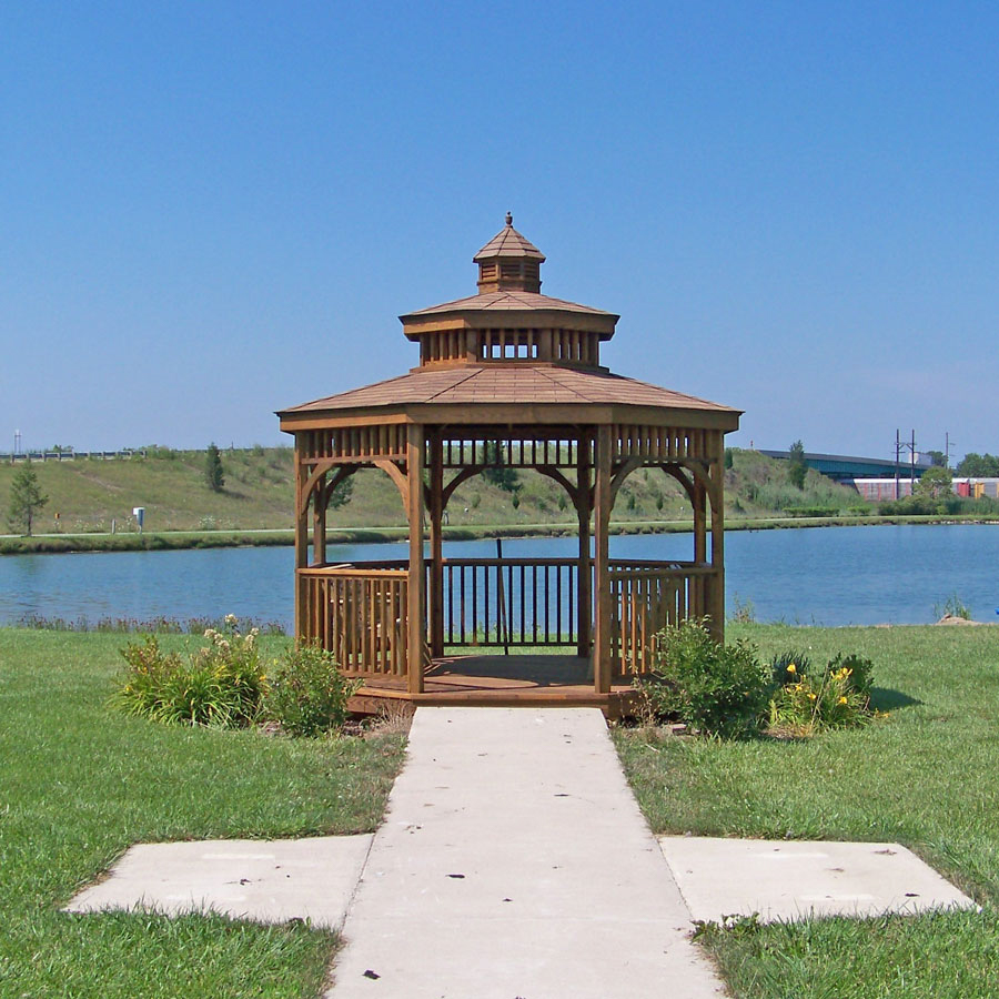 gazebo by the water in va