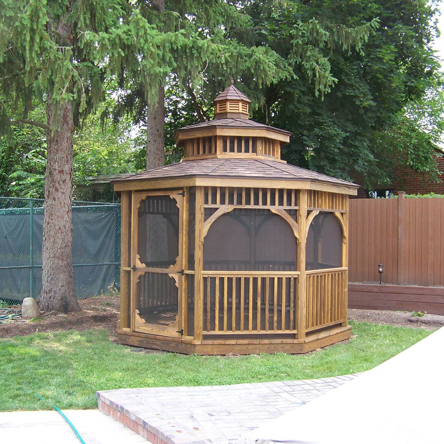 custom gazebos with wood siding for sale in va