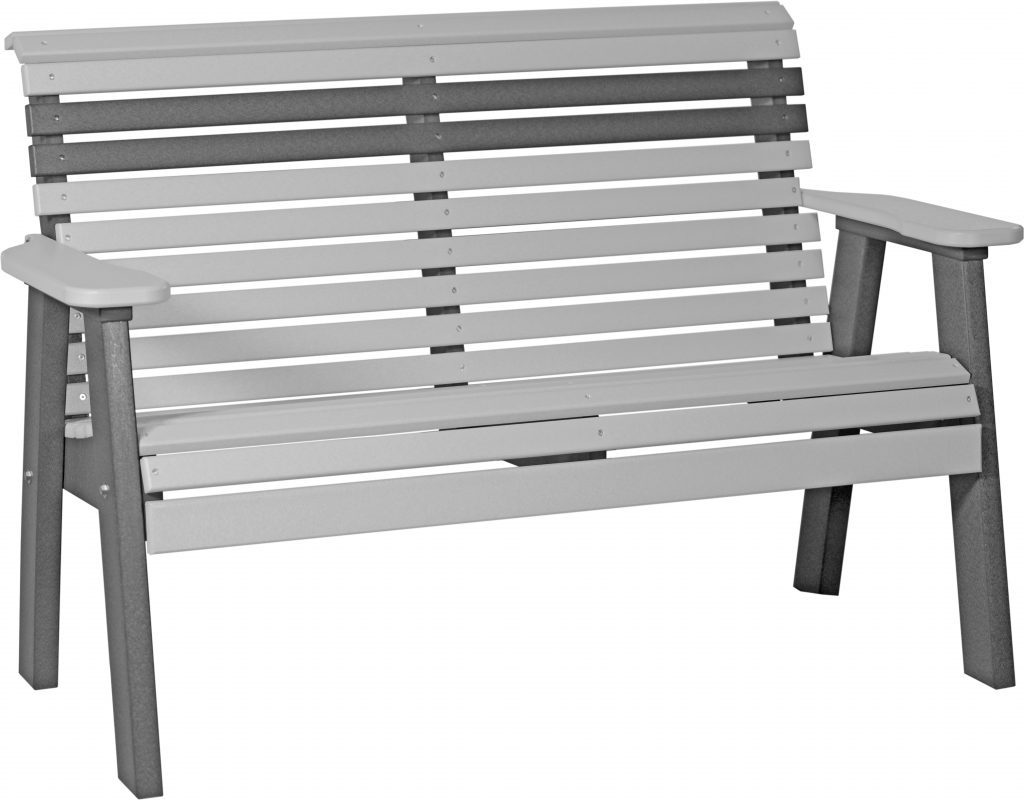 grey poly outdoor bench furniture for sale in va