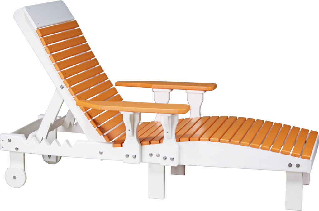 orange beach chairs and poly outdoor furniture
