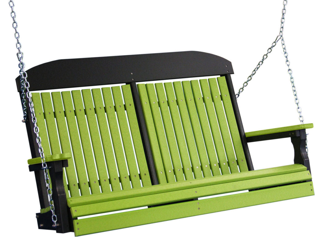 poly outdoor furniture green swings
