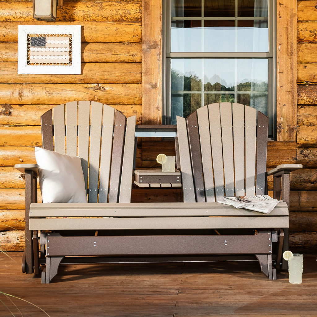 poly outdoor furniture double chairs