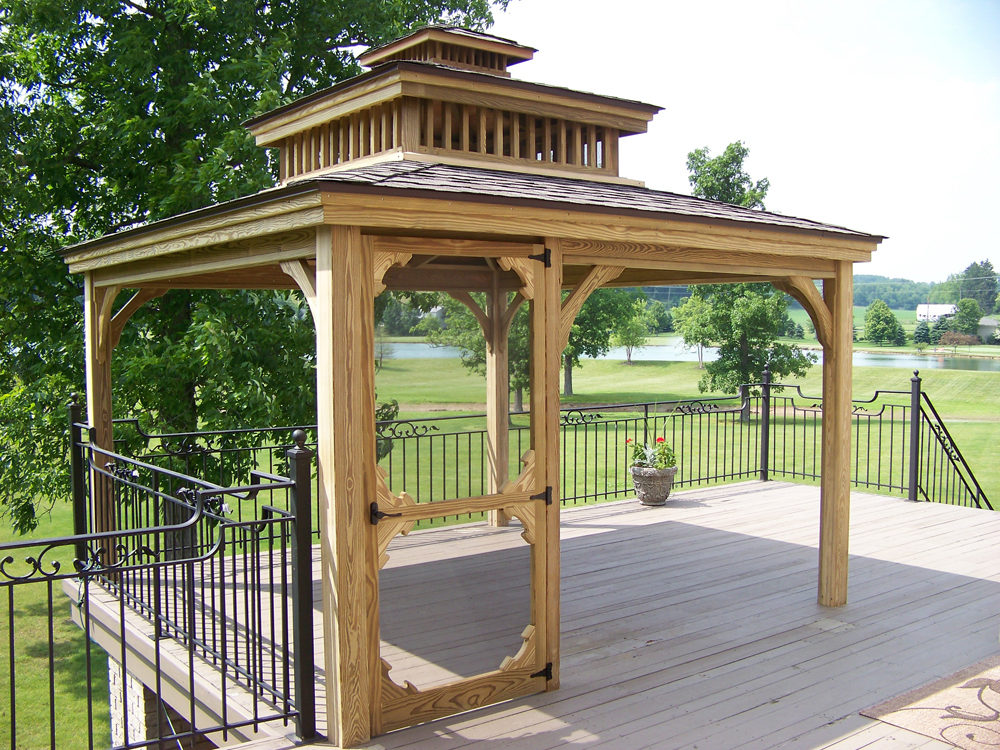 wood backyard pavilions for sale in virginia