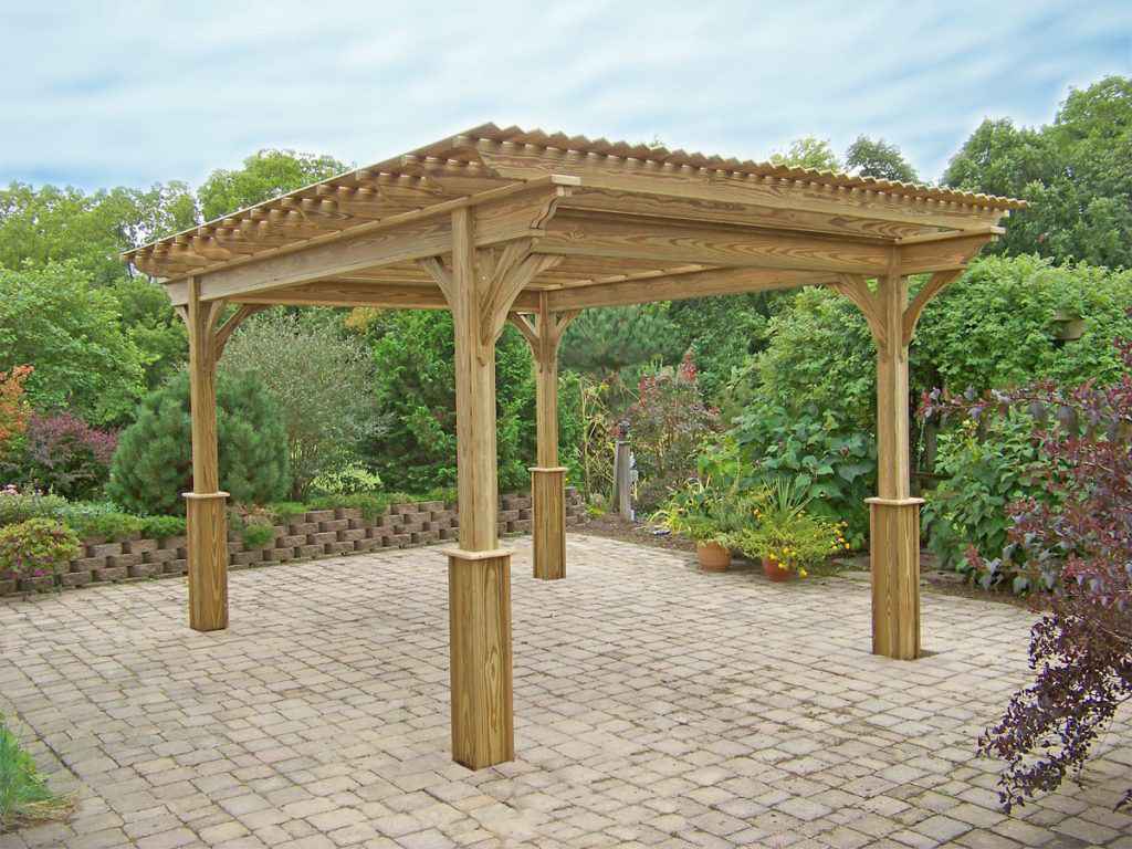 wooden pergola for sale in dublin va