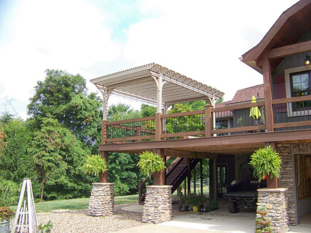 pergola on a deck in virginia