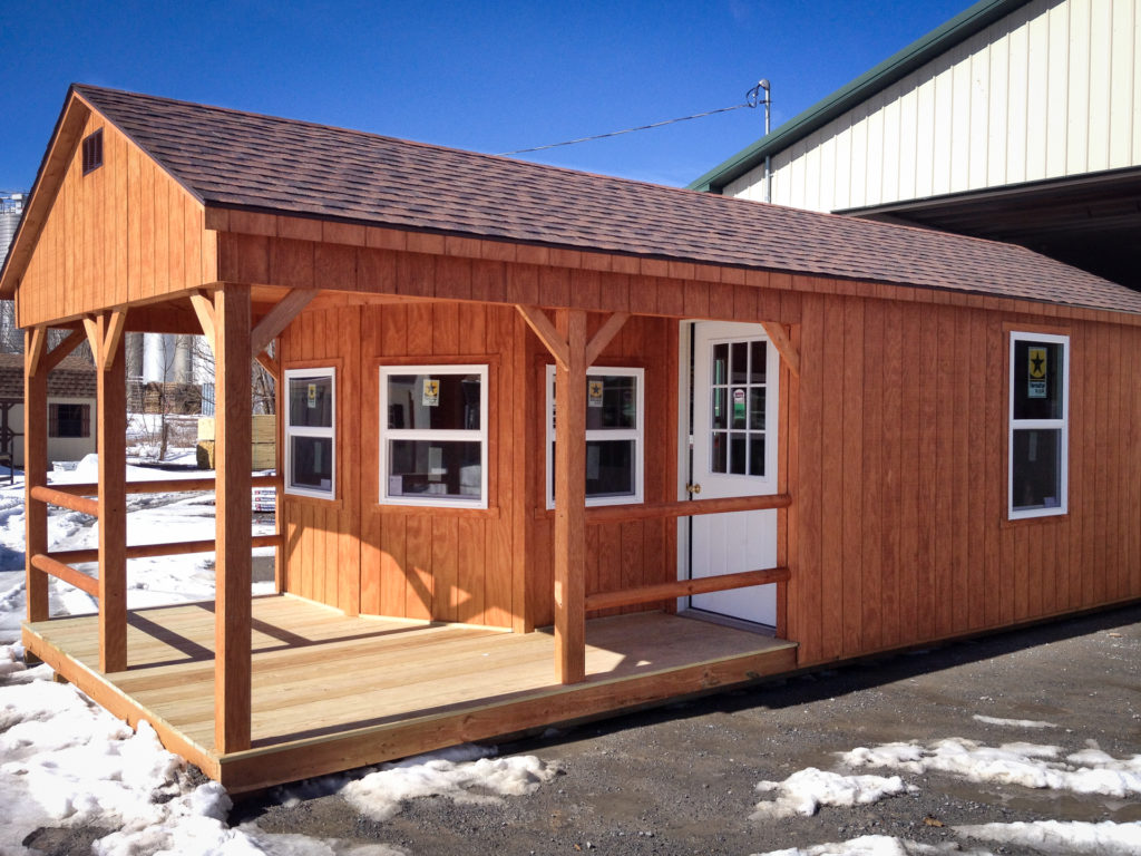 outdoor garden sheds with a porch