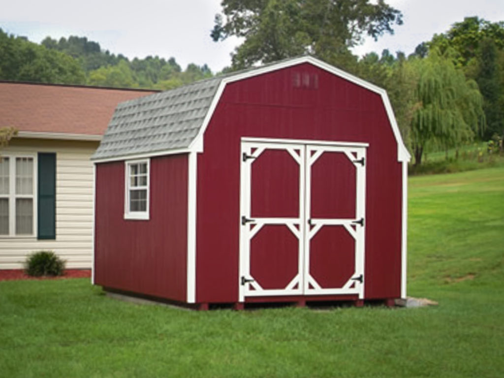 red lofted barn shed for sale