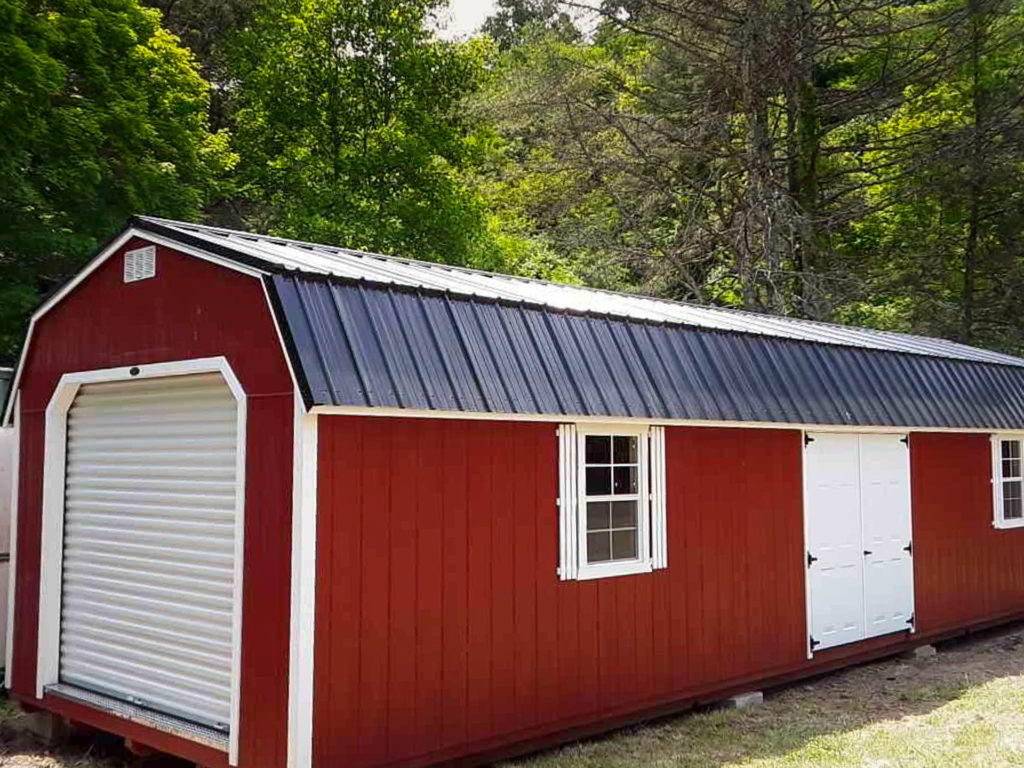 red storage barn garage