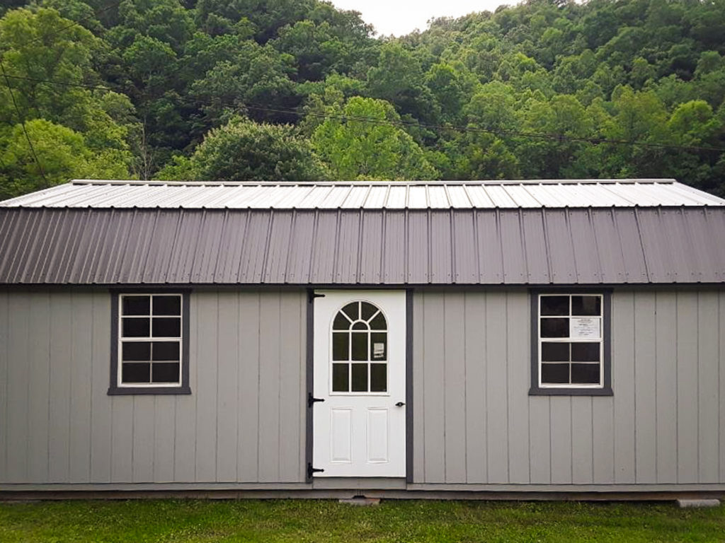 barn shed with metal roof