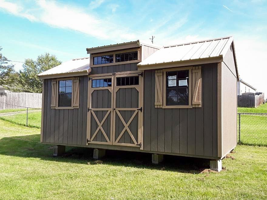 modern backyard shed