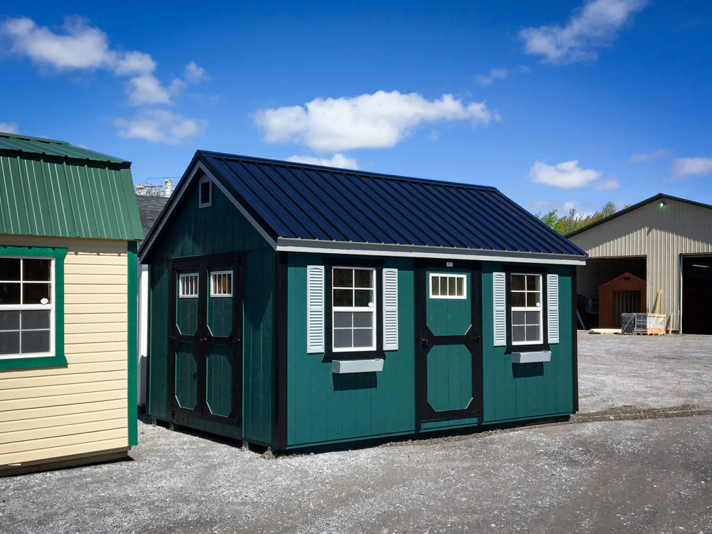 backyard shed with custom color