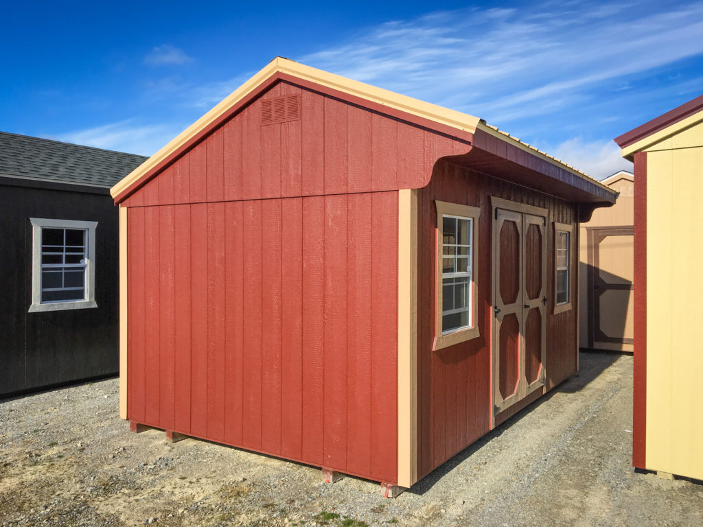 red prefab shed for sale in va