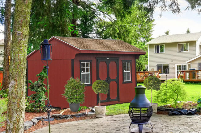 backyard prefab storage sheds
