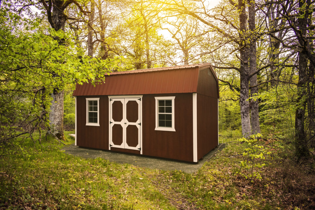 outdoor shed in the forest