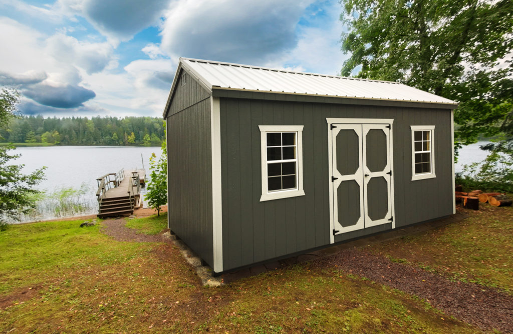 lake house storage shed