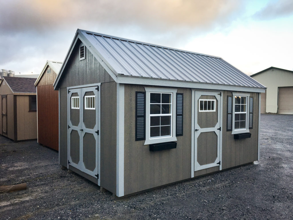 storage shed with two windows